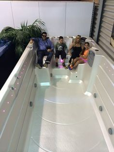 Swim Spa Sunday: what would the family think about this? www.spaworld.com.au #swimspa #swimming #relax