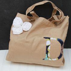 Monogrammed Summer Bag