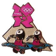 Price: $8.95 - Summer Olympics London 2012 England Olympic Games Wenlock Mascot Synchronized Swimming Pin - TO ORDER, CLICK THE PHOTO