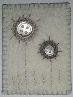 linda lammerts: pearl buttons with crochet (similar to shisha mirrors)