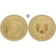 Bundesrepublik Deutschland, 200 Euro 2002, Einführung des Euro, D, 31,1 g fein, st, J. 494: 200 Euro 31,1 g fein, 2002 D. Einführung… #coins