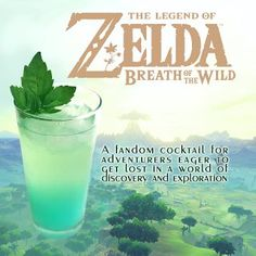 Are you ready to get lost in the wilds of Hyrule? Enjoy something refreshingly different with our Legend of Zelda inspired Breath of the Wild cocktail.
