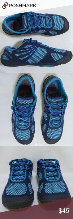 8486bd6b8df Merrell Pace Glove Barefoot Minimalist Running Womens Merrell Performance  Footwear Purple Blue Turquoise Athletic Trail Hiking