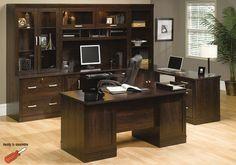 Office Port Dark Alder Executive Office Suite - Home Office Furniture - Classy - Professional Executive Office Furniture, Home Office Furniture Desk, Home Office Desks, Office Table, Furniture Sets, Timber Furniture, Design Furniture, Modern Furniture, Office Suite