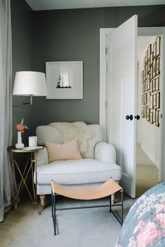 Inside A Minimalist Bungalow With Scandinavian Home Decor | Domino - Bedroom Chair / Seating