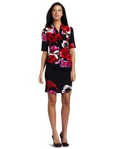 Tiana B Women's The Floral Delight V-Neck Dress