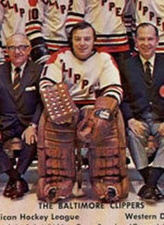 "Andy Brown ( http://www.hockeydb.com/ihdb/stats/pdisplay.php?pid=604 ) - who, along with  Gump Worsley, Ed Johnston, and Joe Daly, was one of the last ""mask less"" NHL goalies - was the main man in net for the AHL Clippers from 1968-69 through 1970-71"