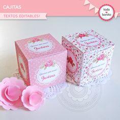 Cajitas shabby rosa para imprimir