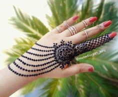 About Mehndi Mehndi is also called Henna. Plant Lawsonia leaves are dried to make a powder called henna. Most Asian women use Mehndi. Mehndi is also used Henna Hand Designs, Mehndi Designs Finger, Mehndi Designs 2018, Mehndi Designs For Fingers, Unique Mehndi Designs, Henna Tattoo Designs, Mehndi 2018, Mehndi Fingers, Mehndi Tattoo