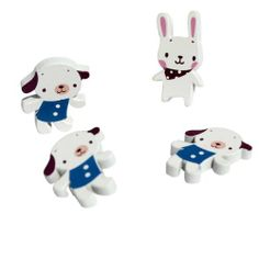 [White Dog & Rabbit] - Brooch / Brooch Pin / Animal Pin Brooch (Set of 3) by Blancho Bedding. $12.99. Beautiful and cute design.. Safety clasp on the back.. Made of high quality samak.. The brooch is an adorable must-have accessory.. Good touch and smooth. A great item to fix cuff.. This is a cute brooch pin, made of high quality samak. The buttons are inlaid. Head is attached by a pin. Safety clasp on the back. Stand out in a crowd with this Unique Brooch. It ...