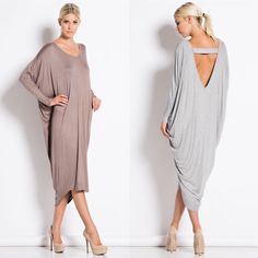 """""""Metaphor"""" Dolman Sleeve Cut Out Midi Dress Dolman sleeve cut out midi dress. Available in taupe, black and heather grey. This listing is for the HEATHER GREY. Brand new. True to size. NO TRADES. Bare Anthology Dresses Midi"""