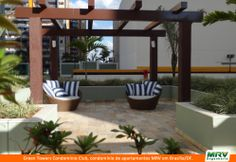 Gazebo do Green Towers Condomínio Resort. Condomínio fechado MRV entregue em Brasília, na região de Águas Claras, em localização privilegiada.