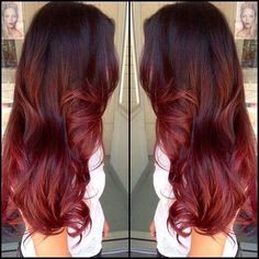 Dark brown to red