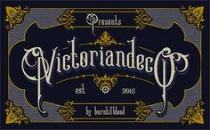 Victoriandeco Regular font — Created in 2016 by burntilldead