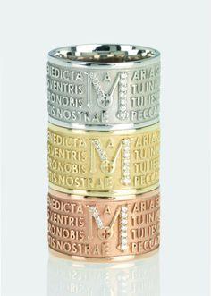 Ave Maria in oro e diamanti TUUM Made in Italy