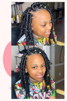 Black Little Girl Hairstyles, Black Kids Braids Hairstyles, Blonde Hair Black Girls, Faux Locs Hairstyles, Girls Natural Hairstyles, Twist Braid Hairstyles, Black Girl Braids, Braids For Black Hair, Braids For Kids