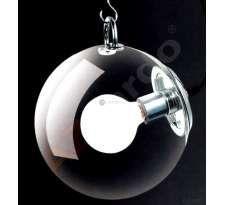 Plafon LAMPA sufitowa EDISON AX6020-1L Azzardo industrialna OPRAWA szklana kula ball chrom srebrny przezroczysty