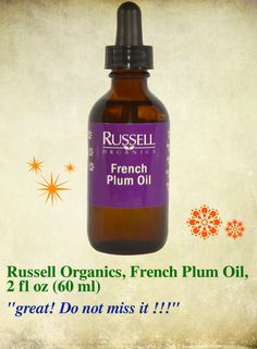 bath and beauty discount coupon code:JWH658,$10 OFF  iHerb Russell Organics, French Plum Oil, 2 fl oz (60 ml) cod liver oil beauty benefits