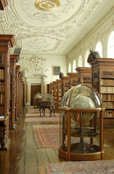 Beautiful Libraries and Bookshops...The Queen's College Library, University of Oxford, England, photo via Queen's College Oxford.