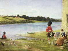 John Everett Millais: Flowing to the Sea. Oil on canvas (1871)