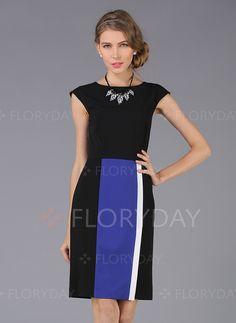 Dresses+-+$63.28+-+Cotton+Color+Block+Cap+Sleeve+Above+Knee+Elegant+Dresses+(1955101131)