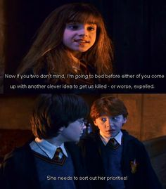 BEST piece of dialogue from the series! Harry Potter and the Philosopher's Stone