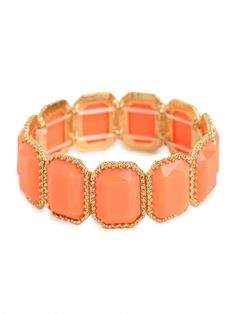 coral bezel bead cuff / baublebar