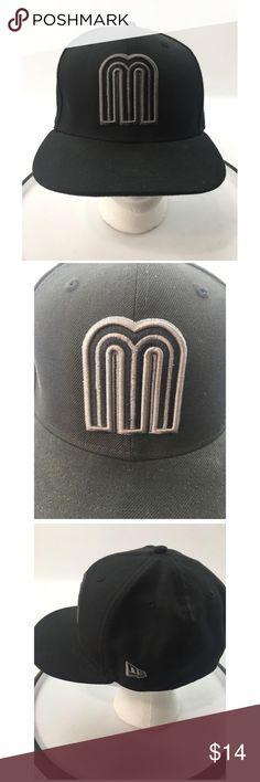 7dc158fabf729 Q New Era Mexico Baseball Classics Flat Cap Hat New Era Men s Black Mexico  Baseball Classics