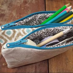 You searched for Estuche Sewing Tutorials, Sewing Hacks, Zipper Pouch Tutorial, Pouch Pattern, Diy Purse, Bag Patterns To Sew, Fabric Bags, Sew Bags, Quilted Bag
