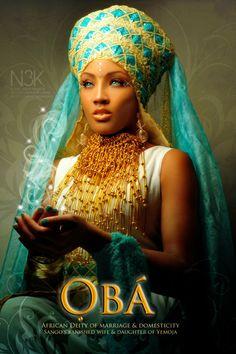 OBA: African Orisha of Marriage & Domesticity. Sango's Banished wife and Daughter of Yemoja. model: Raye Monroe creator/photographer: James C. Lewis