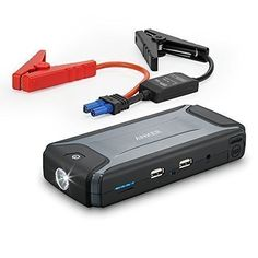 Ultra Compact Anker Compact Car Jump Starter and Portable Charger Power Bank with 400A Peak Current Advanced Safety Protection and BuiltIn LED Flashlight * Click image for more details. (Note:Amazon affiliate link)