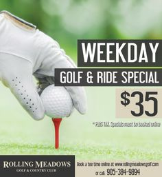Book A Special - Rolling Meadows Golf & Country Club Golf Specials, Rolling Meadows, Rolls, Club, Country, Rural Area, Bread Rolls, Country Music, Rustic