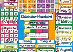 FREEBIE Calendar pieces