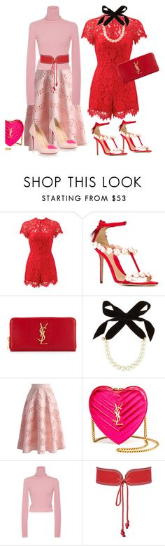 """""""Be mine ❤️"""" by ellenfischerbeauty ❤ liked on Polyvore featuring Alexis, Paula Cademartori, Yves Saint Laurent, Lulu Frost, Chicwish, A.L.C., Christian Louboutin, Chanel, YSL and gucci"""