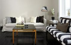 black&white living room