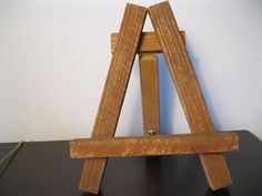 Handmade easel using a tobacco stick by EncausticsEtc on Etsy, $15.00