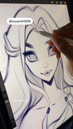 Cute Art Styles, Cartoon Art Styles, Copic Marker Drawings, Digital Art Beginner, Art Painting Gallery, Art Drawings Sketches Simple, Ipad Art, Digital Art Tutorial, Art Reference Poses