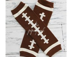 Football Leg warmers-Ruffle Leg warmers Leg by RiverRoseDesignCo