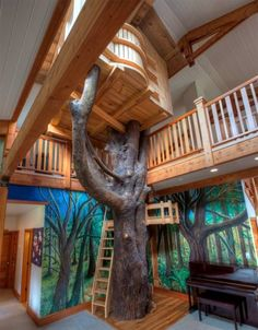 This sprawling 1.5 million home in Washington includes a tree house within its 6,000-square-foot interior. Perfect for indoor play during all of those rainy days.