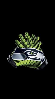 NFL Seattle Seahawks Glove Poster Printed on self-adhesive 9d2c43e4e