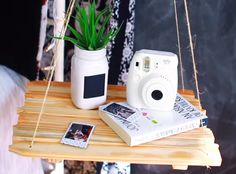 When it comes to bedroom furnishings, nightstands are necessary. But sometimes there's just no room for one, especially for those of us living in tight quarters. You're hip and cool, so you want your personal space to reflect your personality. Actually, there are tons of ideas and materials out there that you can utilize to make your very own unique home embellishments like this DIY hanging nightstand that's perfect for your favorite book, cell phone or alarm clock…