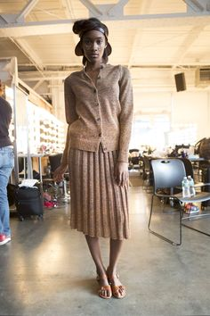 70 backstage photos of A Détacher at New York Fashion Week Spring 2015.