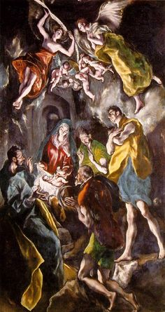 """El Greco """"The Adoration of the Shepherds"""" late 16th or early 17th century"""