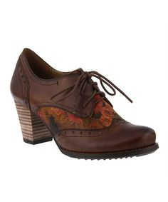 7e1db8e5aeec1 L'Artiste by Spring Step | Brown Marivel Leather Oxford Pump - Women