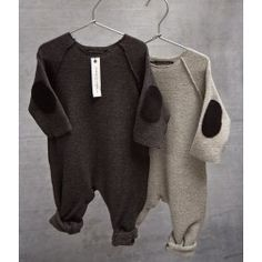 Baby one-piece romper with elbow patches by album di famiglia - buddy