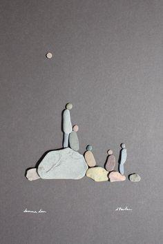 Ещё одна интересная подборка на тему Pebble Art.Художница Sharon Nowlan из Канады.Просто, мило, трогательно..