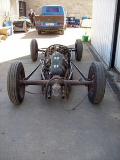 Rear of lakester chassis