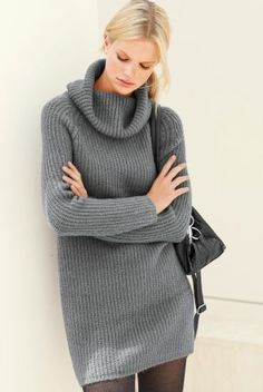 Define your style statement in women's on-trend dresses featuring party, occasion & evening dresses. Oversized Knit Cardigan, Jumper Dress, Cosy, Knitwear, Evening Dresses, Your Style, Party Dress, Turtle Neck, How To Get