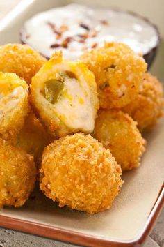 for Jalapeno Cheese Fritters - A copycat recipe from Abuelo's Mexican Food Embasy.Recipe for Jalapeno Cheese Fritters - A copycat recipe from Abuelo's Mexican Food Embasy. Finger Food Appetizers, Appetizer Recipes, Snack Recipes, Cooking Recipes, Easy Recipes, Mexican Food Appetizers, Easy Mexican Food Recipes, Keto Recipes, Tostada Recipes