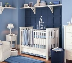 Love everything about this baby room... http://www.potterybarnkids.com/products/chase-sailboat-mobile/?pkey=e|nautical%2Bbaby%2Broom%2Bdecor|88|best|0|1|24||3_src=PRODUCTSEARCH||NoFacet-_-NoFacet-_-NoMerchRules-_-